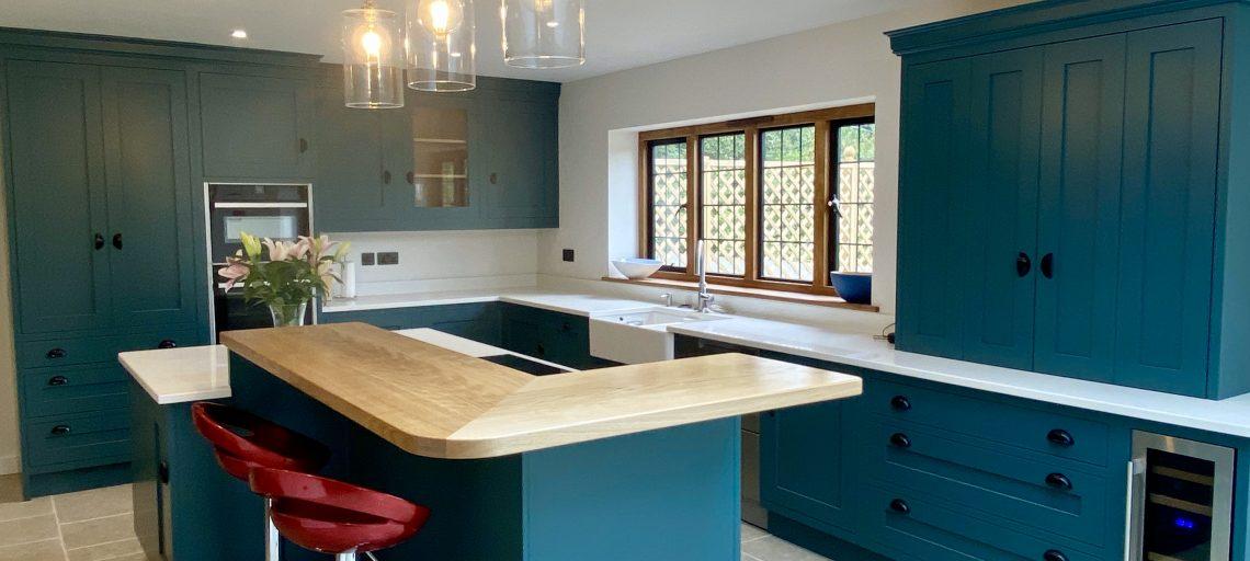 Inchrya Blue Shaker Kitchen